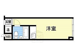 ファミールハイツ北大阪3号棟[3階]の間取り