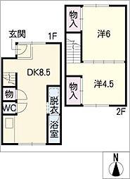 [タウンハウス] 愛知県名古屋市北区瑠璃光町3丁目 の賃貸【/】の間取り