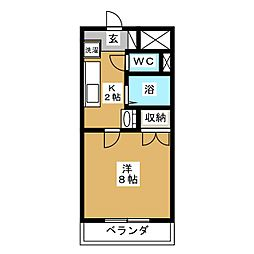 グランドール弐番館[4階]の間取り