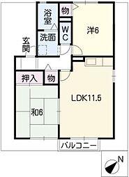 シンフォニーB棟[1階]の間取り