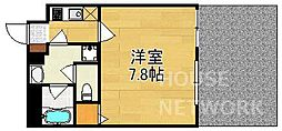 ウェルスクエア京都西陣 1階1Kの間取り