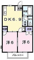 グリーンパレスCASA B棟[0103号室]の間取り