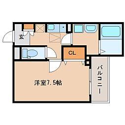 奈良県奈良市大宮町の賃貸アパートの間取り