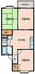 YSハイツ柏村[1階]の間取り