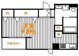 東京都葛飾区東新小岩1丁目の賃貸マンションの間取り