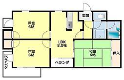 愛知県豊田市小坂町10丁目の賃貸マンションの間取り