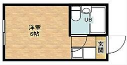 パシフィック新今宮[5階]の間取り