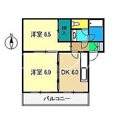 コーポラス豊田[3階]の間取り