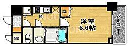 エスライズ京都河原町[402号室号室]の間取り