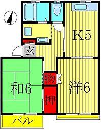 エクセル小林II[1-A号室]の間取り