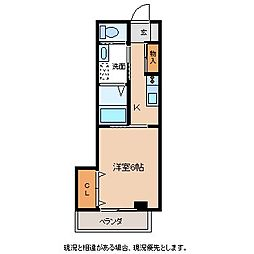 コーポ熊谷B[2階]の間取り