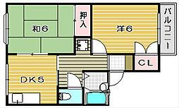 サニーハイム南茨木[1階]の間取り