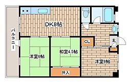兵庫県神戸市東灘区魚崎南町1丁目の賃貸マンションの間取り