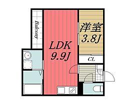 千葉県千葉市中央区祐光4丁目の賃貸アパートの間取り