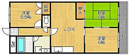 モンプラン浜寺[302号室]の間取り