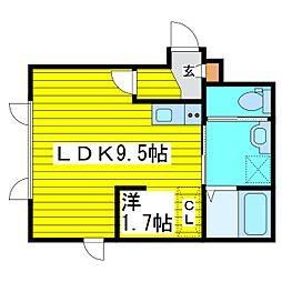 北海道札幌市東区北二十三条東1丁目の賃貸アパートの間取り