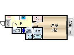 ドルフハイム清福寺[1階]の間取り