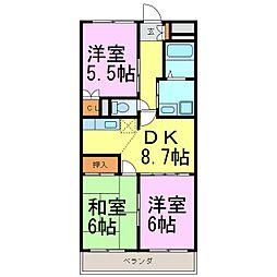 アピタシオン華[1階]の間取り
