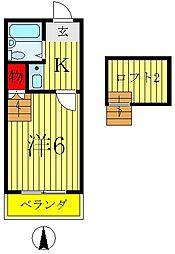 サンライズA棟[2階]の間取り