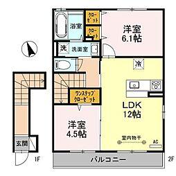 SEJOUR YOSHIOKA[203号室]の間取り