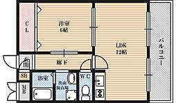 第1星栄ハイツ[1階]の間取り