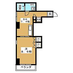 桂山サコウハイツYON[2階]の間取り