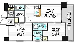 エステムプラザ梅田・中崎町ツインマークス サウスレジデンス[13階]の間取り