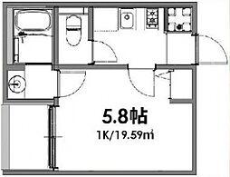 ベルメント東平賀[203号室号室]の間取り