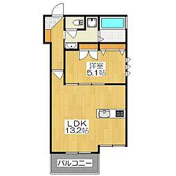 (仮称)下京区吉文字町ヘーベルメゾン[202号室]の間取り