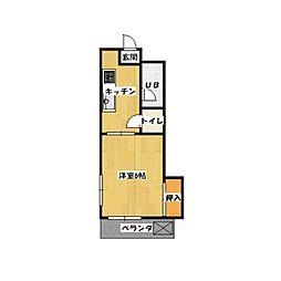 落合フラッツ[2階]の間取り