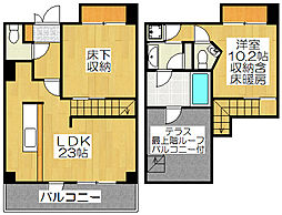 Grand E'terna京都[2005号室]の間取り