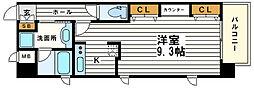 大阪府大阪市天王寺区上本町8丁目の賃貸マンションの間取り
