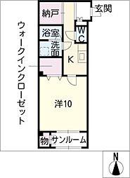 アーバンハイムII[1階]の間取り