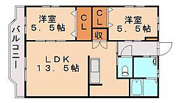 ライフステージ太郎丸[1階]の間取り