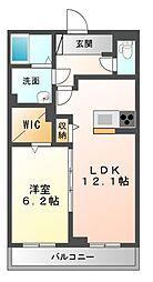 仮 八幡宿マンション[1階]の間取り