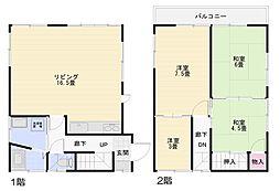 [一戸建] 神奈川県横須賀市太田和1丁目 の賃貸【/】の間取り