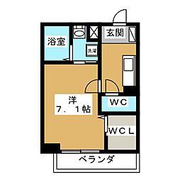 京都府京都市伏見区桃山町丹後の賃貸アパートの間取り