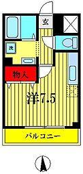 埼玉県越谷市赤山町1丁目の賃貸マンションの間取り