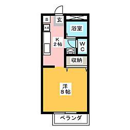 ファイブ・ツー・エー[1階]の間取り