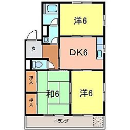 かとうマンション[3-B号室]の間取り