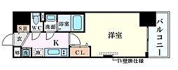 JR東海道・山陽本線 新大阪駅 徒歩10分の賃貸マンション 2階1Kの間取り