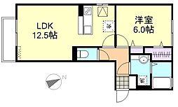 チェリーブロッサムA棟[1階]の間取り
