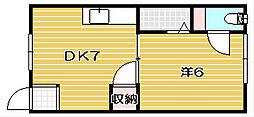 プリンスハウス[13A号室]の間取り