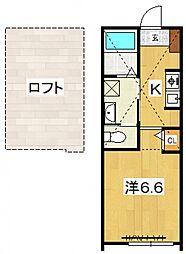 PACIFIC OCEAN KOZU[B4号室号室]の間取り