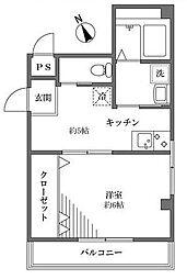 D三ノ輪[2階]の間取り