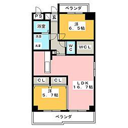 シャトルスケミツII[7階]の間取り