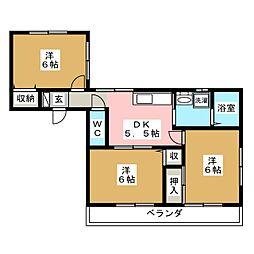 エンドウハイツI[1階]の間取り