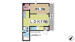 AVENUE赤坂[101号室]の間取り