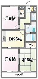 プレヤーデンB[1階]の間取り