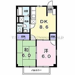 ニューシティ和田山[203号室]の間取り